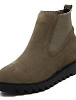 Women's Shoes Fleece Platform Combat Boots Boots Casual Black / Yellow