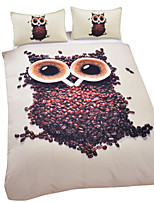 Owl Duvet Cover Set 3D Bedding Set