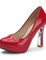 Women's Shoes Spool Heel Comfort / Pointed Toe Heels Outdoor / Casual Black / Pink / Purple / Red / Beige
