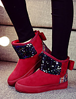 Women's Shoes Fleece Platform Snow Boots / Fashion Boots Boots / Slip-on / Casual Black / Dark Blue / Red / Camel