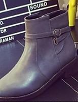 Zapatos de mujer - Tacón Robusto - Botas de Equitación / Botas a la Moda - Botas - Casual - Semicuero - Negro / Rojo / Gris