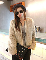 Women Fox Fur Outerwear , Belt Not Included