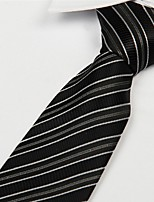 Black White Gray Striped Men Business Occupational Tie