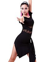 Vestidos y faldas ( Negro / Rojo , Fibra de Leche , Danza Latina / Desempeño ) - Danza Latina / Desempeño - para Mujer