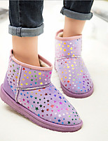 Women's Star Shoes Round Toe Flat Heel Mid-Calf Boots More Colors Available