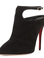 Women's Shoes Fleece Stiletto Heel Heels / Pointed Toe Heels Wedding / Office & Career / Party & Evening Black