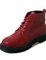 Women's Shoes Chunky Heel Bootie / Comfort / Round Toe Boots Casual Black / Brown / Red / Gray