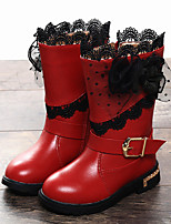 Girls' Shoes Dress / Casual Snow Boots / Comfort / Round Toe Boots Black / Pink / Red