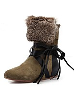 Women's Shoes Suede Wedge Heel Fashion Boots Boots Office & Career / Party & Evening / Dress Black / Green