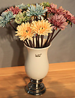 Kitchen Restaurant Decorated Polyester Daisies Artificial Flowers