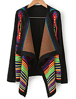 Women's Color Block Multi-color Cardigan , Casual Long Sleeve