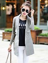 Cappotto Da donna Vintage / Casual Manica lunga Misto cotone
