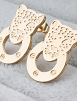 Women's Fashion Elegant Set of Two Gold Plated Stainless Steel Earring