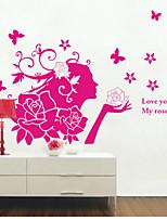 Fashion / People Wall Stickers Plane Wall Stickers , PVC 60m*90cm