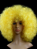 Black Afro Wig Fans Bulkness Cosplay Christmas Halloween Wig Yellow Color