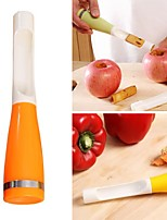 Easy Release Apple Corer Cutter Fruit Vegetable Kitchen Core Removal Tool (Random Color)