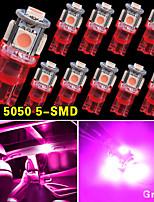 10 pc nuovi cuneo rosa t10 5050-SMD ha condotto la luce delle lampadine W5W 2825 158 192 168 194 12v