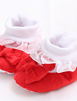 Baby Shoes Dress / Casual Sheepskin Flats Red