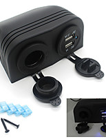 Dual Car Cigarette Lighter Socket Splitter 12V Charger USB Power Adapter Outlet