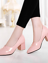 Women's Shoes Chunky Heel/Pointed Toe Heels Office & Career/Party & Evening/Dress Green/Pink/White