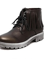 Women's Shoes  Chunky Heel Fashion Boots / Round Toe Boots Outdoor / Casual Black / Brown