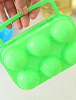 PP Egg Groove Outdoor Picnic Portable Box With Handle Eggs Random Color