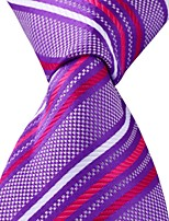 Classic Colored Striped Jacquard Woven Silk Men Tie Necktie