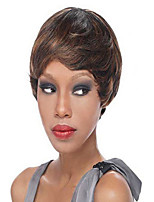 Capless Short High Quality Synthetic  Curly Hair Wigs Side Bang