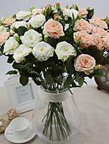 Silk / Plastic Roses Artificial Flowers 2pcs/set