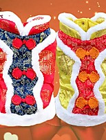 FUN OF PETS® Festival Brocade  Embroidery Traditional Chinese Garments Dogs Coat for Pets Puppy Dogs