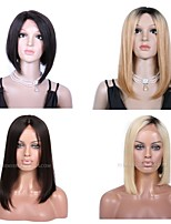 Premierwigs 8A 8''-28'' Bob Straight Collection Brazilian Virgin Silk Top Base Full Lace Human Hair Wigs Lace Front Wigs