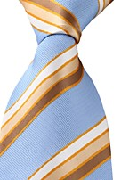 Adult Men Colored Stripes Blue Leisure Jacquard Tie Necktie