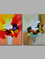 Hand-Painted Oil Painting on Canvas Wall Art Contempory Abstract Color Melody Home Deco Two Panel Ready to Hang
