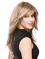 High Quality Light  Blonde Syntheic Wigs Extensions Medium Straight Hair Wig