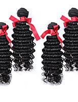 Malaysian Loose Curly Wave Hair Natrual Color Virgin Human Hair Extensions 4Pcs/Lot 7A Top Grade 100% Human Hair