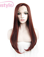 24inch Auburn Silk Straight Soft High Heat Resistant Syntheitc Wigs