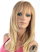 2015 Women Ombre Fashion Natural Wavy Blonde Janpanese Heat Resistant Synthetic Long Straight Hair Wig 5651-27T613 22
