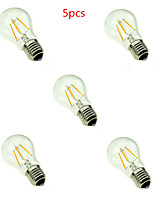5pcs HRY® A60 4W E27 400LM 360 Degree Warm/Cool White Color Edison Filament Light LED Filament Lamp (AC220V)