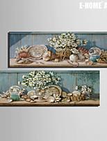 Natura morta / Botanical Print Canvas Due pannelli Pronto da appendere , Verticale