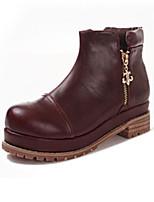 Zapatos de mujer - Tacón Bajo - Comfort - Botas - Exterior - Ante - Negro / Marrón