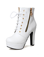 Women's  Cone Heel Round Toe / Closed Toe Boots