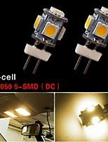 2 PCS G4 5 SMD 5050 LED 3500K High Power 2W Warm White Chip Light Lamp Bulb 12V
