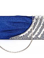 Women Silk Envelope Clutch / Evening Bag - White / Beige / Blue / Silver / Black
