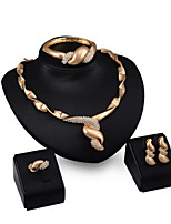 Europe and the United States ladies wedding fashion jewelry four sets