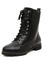 Women's Shoes Chunky Heel  Round Toe Boots Dress Black