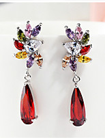 Gorgeous Alloy with Red Crystals Rhinestones Star Design Fashion Earrings Party Earrings More Colors (with Gift Box)