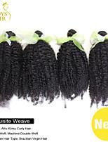 4pcs beaucoup malaisiens vierge de cheveux 100% de cheveux humains tissage extensions afro crépus bouclés malaisiennes de cheveux bouclés