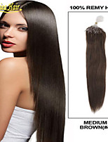 8A Best Micro Ring Hair Extensions,Multiple Color Micro Loop Ring Links Straight Human Weft 100% Brazilian Virgin Hair