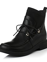 Women's Shoes Stretch Satin Chunky Heel / Fashion Boots / Round Toe Boots Dress / Casual Black / Brown