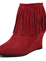 Women's Shoes Velvet Wedge Heel Comfort Pointed Toe Boots Party and Dress More Colors Available